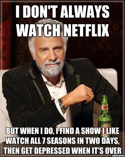 I don't always watch Netflix meme