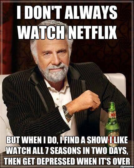 I don't always watch Netflix meme
